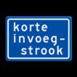 Verkeersbord RVV BB05 Korte invoegstrook