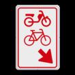 Verkeersbord RVV D107 - (brom-)fietsers van rijbaan wissen