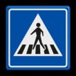 Verkeersbord RVV L02 - Voetgangers oversteekplaats / zebrapad