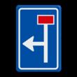 Verkeersbord RVV L09-1l - Doodlopende weg - voorwaarschuwing