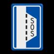 Verkeersbord RVV L15 - Vluchthaven met noodtelefoon en brandblusser