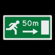 Verkeersbord RVV L19r - Dichtstbijzijnde uitgang rechts