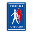 Verkeersbord RVV L55b - Wandelpad