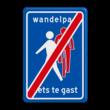 Verkeersbord RVV L55e - einde Wandelpad