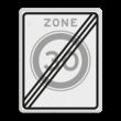 Verkeersbord RVV A0230ze - Einde zone maximum snelheid
