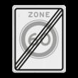 Verkeersbord RVV A0260ze - Einde zone maximum snelheid