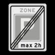 Verkeersbord RVV E11ze - Einde parkeerzone