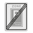 Verkeersbord RVV E09ze  - Einde zone vergunninghouders