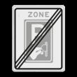 Verkeersbord RVV BW111ze - einde zone Betaald parkeren