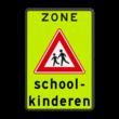 Verkeersbord Schoolzone J21 met tekst