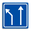 Verkeersbord RVV L04-2 - Pijlbord Voorsorteren
