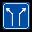 Verkeersbord RVV L06-2 - Pijlbord Splitsing