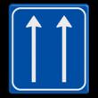 Verkeersbord RVV L07-2 Pijlbord Rijstroken