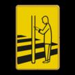 Verkeersbord RVV VR02 geel/zwart - 200x300mm - Voetgangers