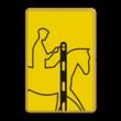 Verkeersbord RVV VR01b geel/zwart - 200x300mm - Ruiters
