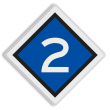 Treinlengtebord - RS 304b - Reflecterend