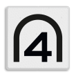 Entreesnelheidsbord - RS 281 - 500x500mm - Reflecterend