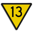 Snelheidsverminderingsbord - RS 313 - 10 of hoger - Reflecterend