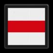 Afsluitbord - RS 243 - 500x500mm - Reflecterend