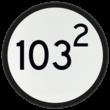 Bord Aankondiging overweg - RS 318a - Ø600mm - 100 of hoger