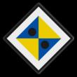 ATB-naderingsbord - RS 328a - 500x500mm - Reflecterend