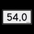 Kilometerbord Nieuwe stijl - RS - 600x300mm - Reflecterend