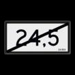 Hectometerbord (einde) Nieuwe stijl - RS - 600x300mm - Reflecterend