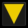 Bord t.b.v. middenvoetbrugsein - RS 215b/223 - 200x200mm - Reflecterend