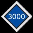 Bord bovenleidingspanning - RS 320a - 500x500 - Reflecterend