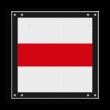 Afsluitbord vlak - RS 243 - 300x300mm - Reflecterend