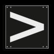 Wisselsein rechtsleidend - RS 253b - 300x300mm - Reflecterend