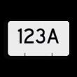 Wisselnummerbord vlak dubbelzijdig - RS - 400x225mm - Reflecterend