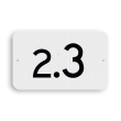 Hectometerbord vlak schouwpad km 0 t/m 9 - RS - 330x200mm - Reflecterend