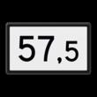 Kilometerbord (Halve) 20,5 t/m 99,5 - bovenleidingportaal - RS - 500x300mm - Reflecterend