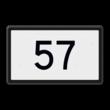Kilometerbord (hele) t.b.v. bovenleidingportaal - RS - 500x300mm - Reflecterend