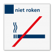 Verbodsbord niet roken - Reflecterend