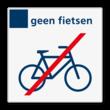 Verbodsbord geen fietsen - Reflecterend