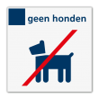Verbodsbord geen honden - Reflecterend