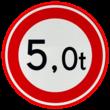 Verkeersbord RVV C21 - Gesloten voor te zware voertuigen