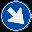 Verkeersbord RVV D02r - Gebod rechts te passeren