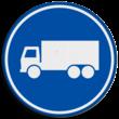 Verkeersbord RVV F21 - Rijbaan of -strook vrachtverkeer