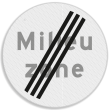 Verkeersbord RVV C22b milieuzone - Einde milieuzone