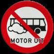 Verkeersbord Motor uitschakelen - Bussen