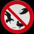 Verkeersbord - verboden te voeren