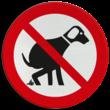 Verkeersbord Honden uitlaten verboden