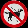 Verkeersbord Honden verboden (ook aangelijnd)