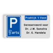 Parkeerplaatsbord E serie + eigen tekst