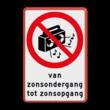 Verbodsbord - Harde muziek verboden