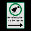 Verkeersbord hondenuitlaatplaats (HUP's) - Picto, tekst en pijl