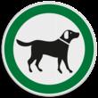 Verkeersbord Loslopende honden toegestaan